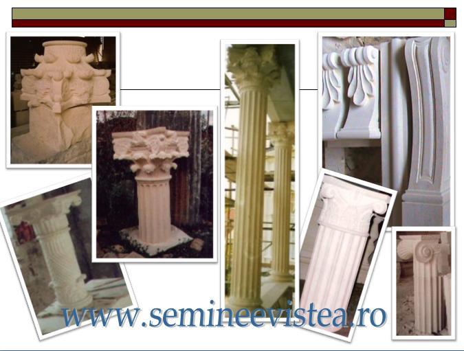 Stalpi ornamentali cu capitel